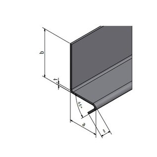 Bordure en inox avec tablette de 7cm 1.4301, t = 1.5mm axbxL 70x150x2270mm Miroir INNER IIID poli ou rectifié K320