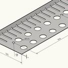 Versandmetall Bande de gravier petite hauteur spéciale 22mm 170320_20_P0101 sans pli en acier inoxydable 1.4301 longueur 2.000mm