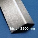 Versandmetall Edelstahlwinkel 100x100x2mm L=2500mm Aussen Schliff K320
