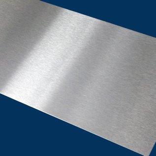 Edelstahlblechzuschnitt, 400x500mm einseitig Schliff K320 Auswahl 1,0, 1,5, 2,0mm