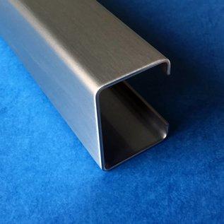 c profil aus edelstahl 2 fach gekantet oberfl che ausw hlbar von versandmetall kaufen. Black Bedroom Furniture Sets. Home Design Ideas