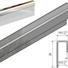 Versandmetall Profil encadrement inégal surface  III D Miroir  1,0mm, 12,5mm verre ou plaque de plâtre,
