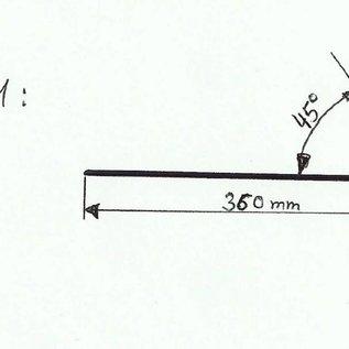 -Profil 1 nach Skizze aus Edelstahl 1,0mm 360x20mm (1.4301) 4x 2000mm 3x 2300mm einseitig mit Schliff Korn 320