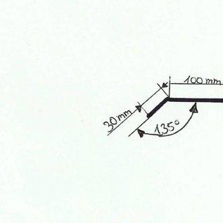 -Profil 2 nach Skizze aus Edelstahl 1,0mm 100x30mm (1.4301) 4x 2000mm 3x 2300mm einseitig mit Schliff Korn 320