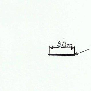 -Profil 3 nach Skizze aus Edelstahl 1,0mm 90x10mm (1.4301) 4x 2000mm 3x 2300mm einseitig mit Schliff Korn 320