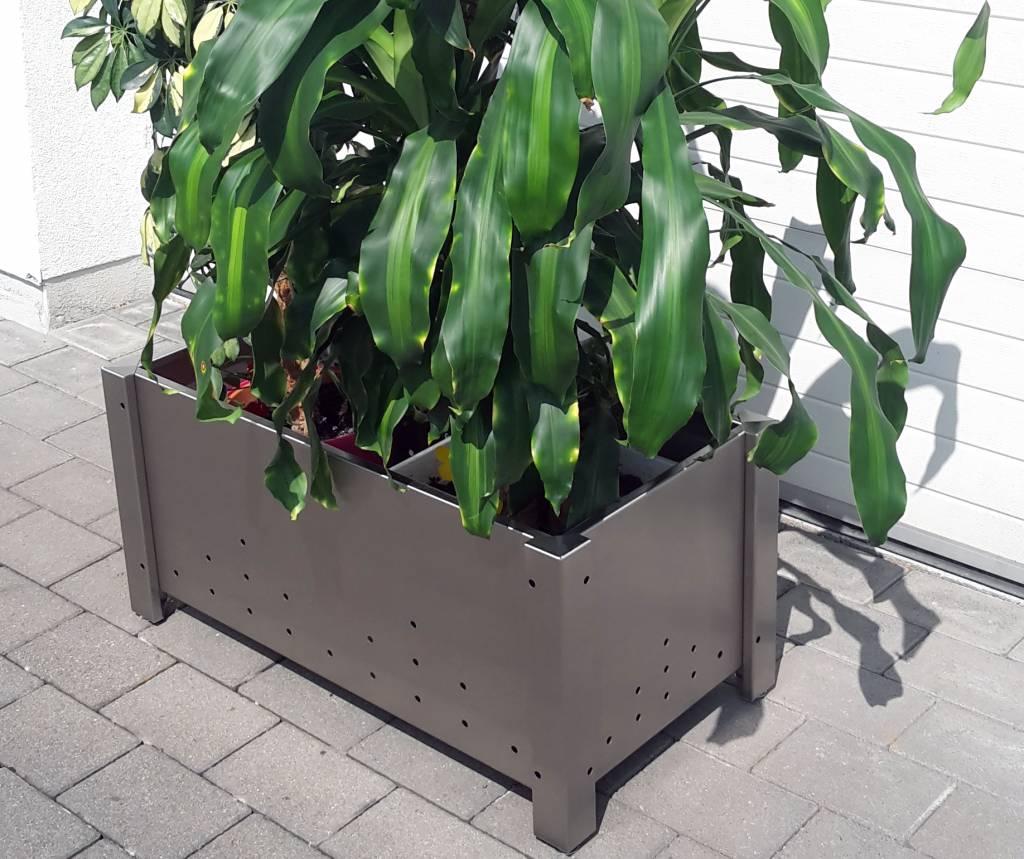 blumenkübel pflanzkübel Übertopf aus edelstahl von versandmetall