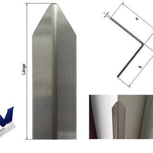 Versandmetall Eckschutzwinkel modern 1-fach gekantet, für Mauern Ecken und Kanten 30x30x1mm Länge 1000 mm K320
