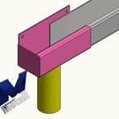 Versandmetall Regenrinne P1 - Endstück links mit Ablaufstutzen- Edelstahl außen Schliff K320