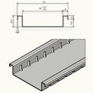 Versandmetall Drainagerinnen Form F nur 25,5mm hoch aus Aluminium Einlaufbreiten 90 bis 190mm