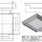 Versandmetall 170929 - Ablaufwanne gemäß Skizze aus 1,5 mm Edelstahl, Ecken geschweißt: axbxh 620x600x150mm Außenmaße -0,5/-1mm AUSSEN K320
