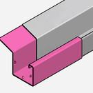 Versandmetall Regenrinne P2 - Verbinder Gerade - 1,5m Edelstahl außen Schliff K320