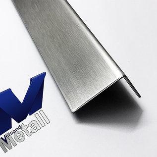Versandmetall - Pos 5+5.1 2 Stück Edelstahlwinkel gleichschenkelig 1-fach gekantet 1,0 mm 1Stck axb 25x30mm L=2500mm 1Stck 25x20mm L=2500mm AUSSEN Schliff K320