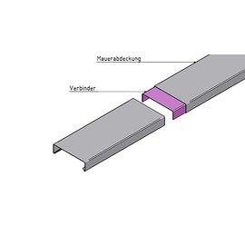 Versandmetall Mauerabdeckung Attikaabdeckung Verbinder 1,0 mm Alu antrazit