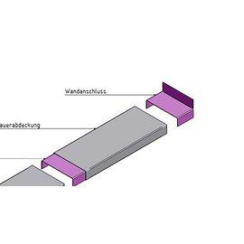 Versandmetall Mauerabdeckung Attikaabdeckung Wandanschlußstück 1,0 mm antrazit