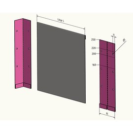 2 5m 2500mm lange rasenkanten kiesleisten aus. Black Bedroom Furniture Sets. Home Design Ideas
