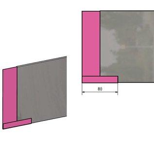 Versandmetall Stabile Rasenkanten Kiesleisten mit Falz aus Edelstahl 160-250mm hoch