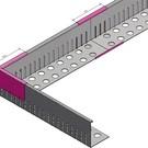 Versandmetall Connecteur  bande de gravier petite hauteur en aluminium 40-75mm