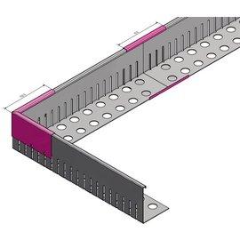 Versandmetall Verbinder Kiesfangleiste klein Aluminium Höhe 40-75mm