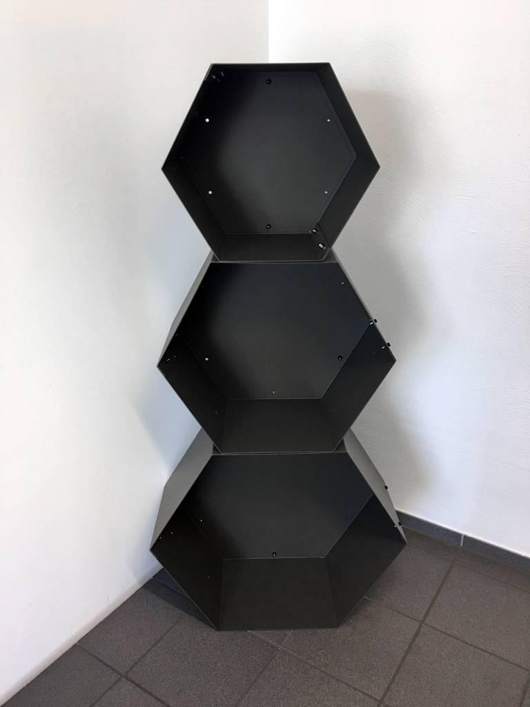 Stylistisches Kaminholzregal Hexagon Xl Modular Kombinierbar Aus