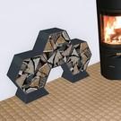 Versandmetall Ètagère -bois de chauffage HEXAGON 400  produit en acier surface  enduit de poudre
