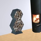 Versandmetall Kaminholzregal Brennholzregal Hexagon XL-5060 bis 30cm Scheite 0,16m3 3-teilig