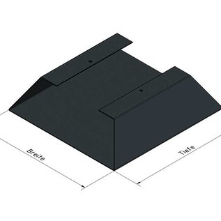 Versandmetall Ètagère  de bois de chauffage HEXAGON composé de 2 modules de différentes tailles XL avec 1 Piedestal produit en acier surface enduit de poudre
