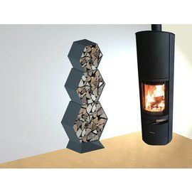 Versandmetall Kaminholzregal Brennholzregal Hexagon XL-4060 bis 30cm Scheite 0,20m3  4-teilig