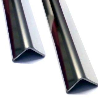 Versandmetall -2 Stck Edelstahlwinkel 2,0mm Aussen spiegelnd/glänzend, axb30x250 mm Länge 650mm