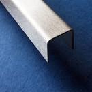 Versandmetall -5 Stück  Edelstahl U-Profil AUSSEN Korn 320 t=2,0mm AUSSEN Maße axcxb 20x35x20mm Länge=2500mm