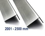 Corniere inox Acier inoxydable jusqu'à 2500mm ( 2,5m ) longueur