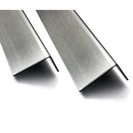 Versandmetall Hoekprofiel RVS 304 Hoekstrip L-Profiel roestvrij Staal gezet gelijkzijdig 90° Lengte tot 2500 m