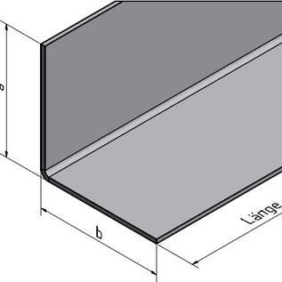 Versandmetall -96 Winkelecken aus Edelstahl 1,6mm BEIDSEITIG Schliff Korn 320 axb 50x50mm Eckkantenlänge außen 100mm