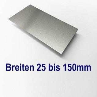 Aluminiumblech Zuschnitte Aluminium Al99,5 mit Schutzfolie bis Länge 1250mm
