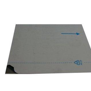 Aluminiumblech Zuschnitte AlMg1 eloxiert E6/EV1 mit Schutzfolie bis Länge 2000 mm