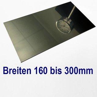 Edelstahl Blech Zuschnitte 1.4301 von 160 bis 300 mm Breite bis Länge 1000 mm