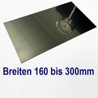 Edelstahl Blech Zuschnitte 1.4301 von 160 bis 300 mm Breite bis Länge 2000 mm