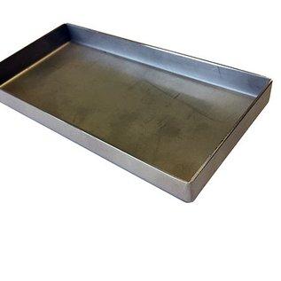 Versandmetall Edelstahlwanne R1 geschweißt Materialstärke 1,5mm  Breite 400 mm Außen Schliff K320
