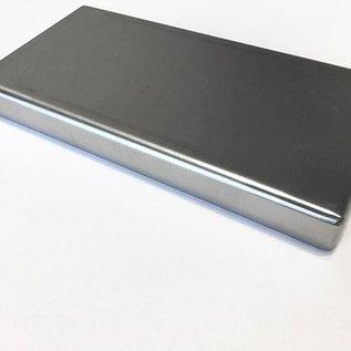Versandmetall Edelstahlwanne geschweißt Materialstärke 1,5mm  Breite 500 mm Außen Schliff K320