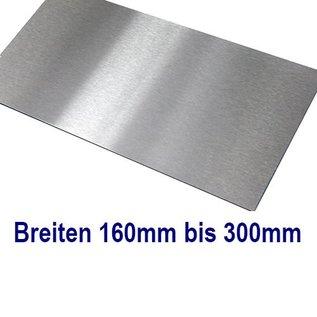 1- St V2A 1.4301 Edelstahlblech t= 1,0mm ca. 1030mm Breite x 1217 mm Länge einseitig Korn 320