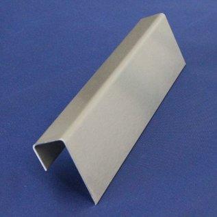 Versandmetall -Edelstahl U-Profil AUSSEN Korn 320 t=2,0mm a=25mm c48mm (innen 44mm) b=38mm L=160mm