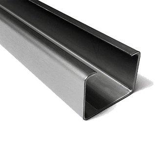 Versandmetall C-Profil aus Edelstahl gebürstet Höhe 30mm Breite c= 40 bis 80mm Länge 1000 mm