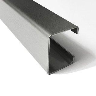 Versandmetall C-Profil aus Edelstahl gebürstet Höhe 30mm Breite c= 40 bis 80mm Länge 1500 mm