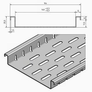 Versandmetall Flache Drainagerinne mit Bodenlochung aus Aluminium Einlaufbreiten 90 bis 190mm Linienentwässerung von Oberflächen