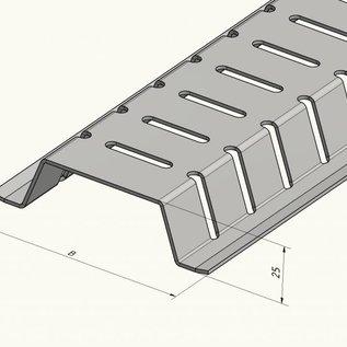 Versandmetall Caniveau de dérivation 2m (2000mm) en aluminium 100mm de large, hauteurs 15 à 30mm