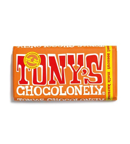 Tony's Chocolonely Melk Karamel Zeezout 180 gram