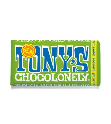 Tony's Chocolonely Puur Amandel Zeezout 180 gram