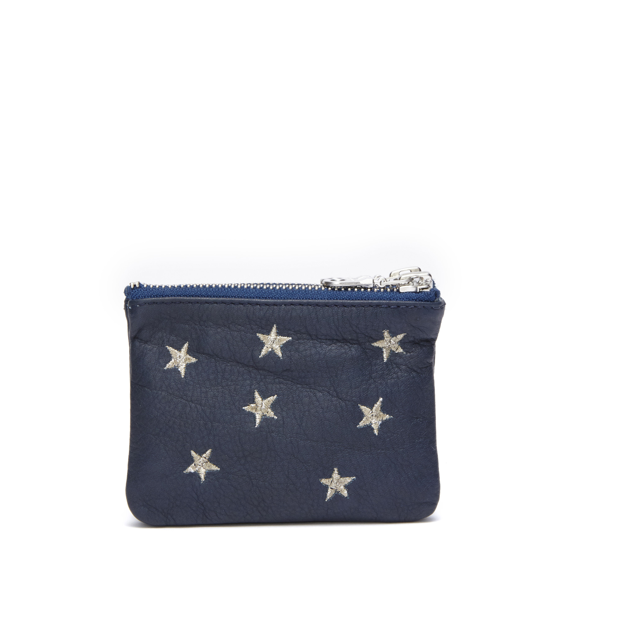 FABIENNE CHAPOT SOFIA PURSE NAVY/SILVER EMBROIDERY