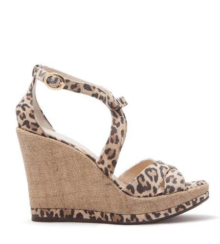 Fabienne Chapot Bow Wedge Leopard