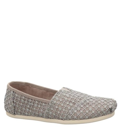 TOMS Crochet Lace Silver