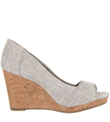 TOMS Stella Wedge Woven Drizzle Grey